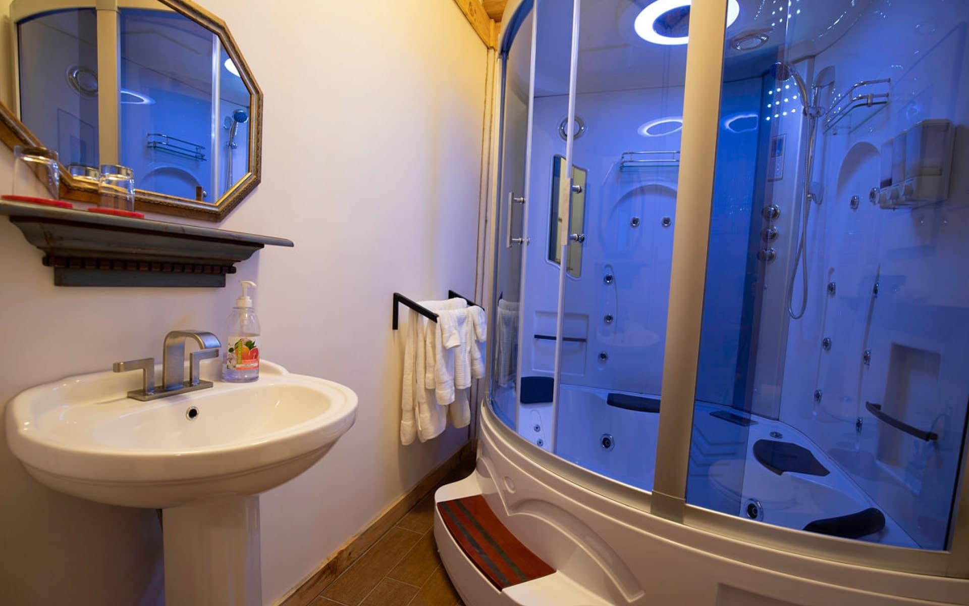 Douche spa dans chaque chambre